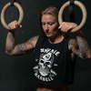 Bite Me - Black - Savage Barbell Women's No Sleeve Crop T-Shirt - Savage Barbell