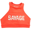 Sports Bra - Orange Crush High Neck - Savage Barbell