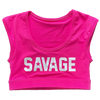 Sports Bra - Crop Tee Sports Bra - Atomic Raspberry - Savage Barbell
