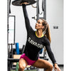 CrossBack Long Sleeve - Black - Savage Barbell