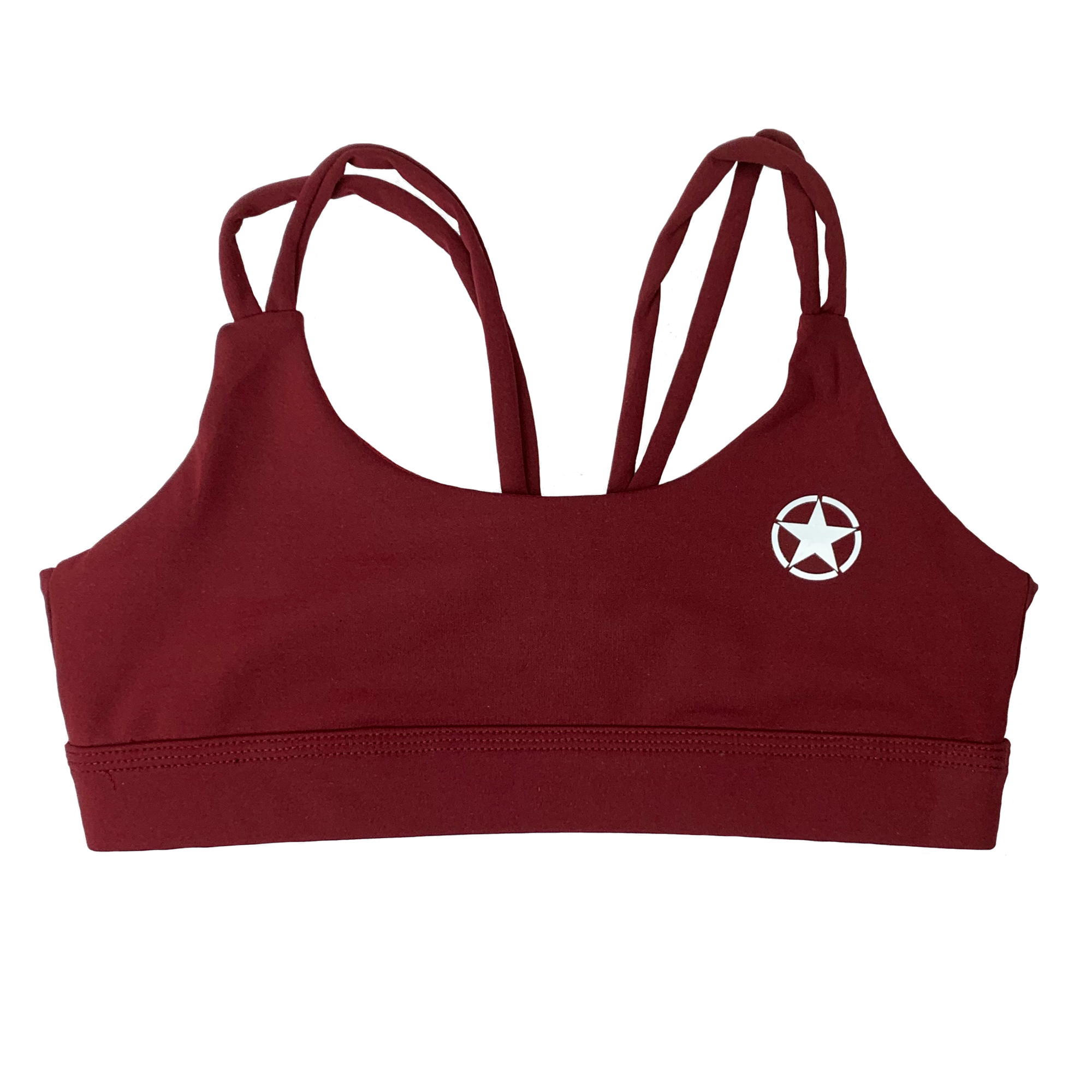 Sports Bra - Knotty Back - Burgundy - Savage Barbell