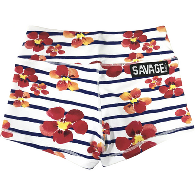 Booty Shorts - Jail Blossom - Savage Barbell