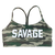 Sports Bra - 2 Strap - Green Camo - Savage Barbell
