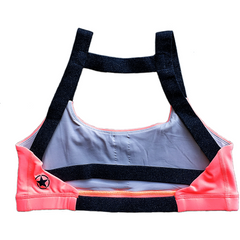 Sports Bra - 2 Strap Electric Coral and Hemp