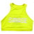 Sports Bra - High Neck Glow Stick - Savage Barbell
