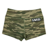 Booty Shorts - Green Camo - Savage Barbell