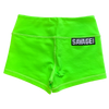 Booty Shorts - Fluorescent Green - Savage Barbell