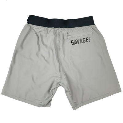 Men's Shorts - Gym Rat Shorts - Charcoal & Black - Savage Barbell