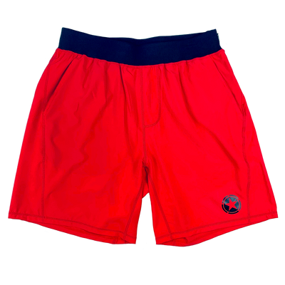 Men's Shorts - Gym Rat - Red & Black - Savage Barbell