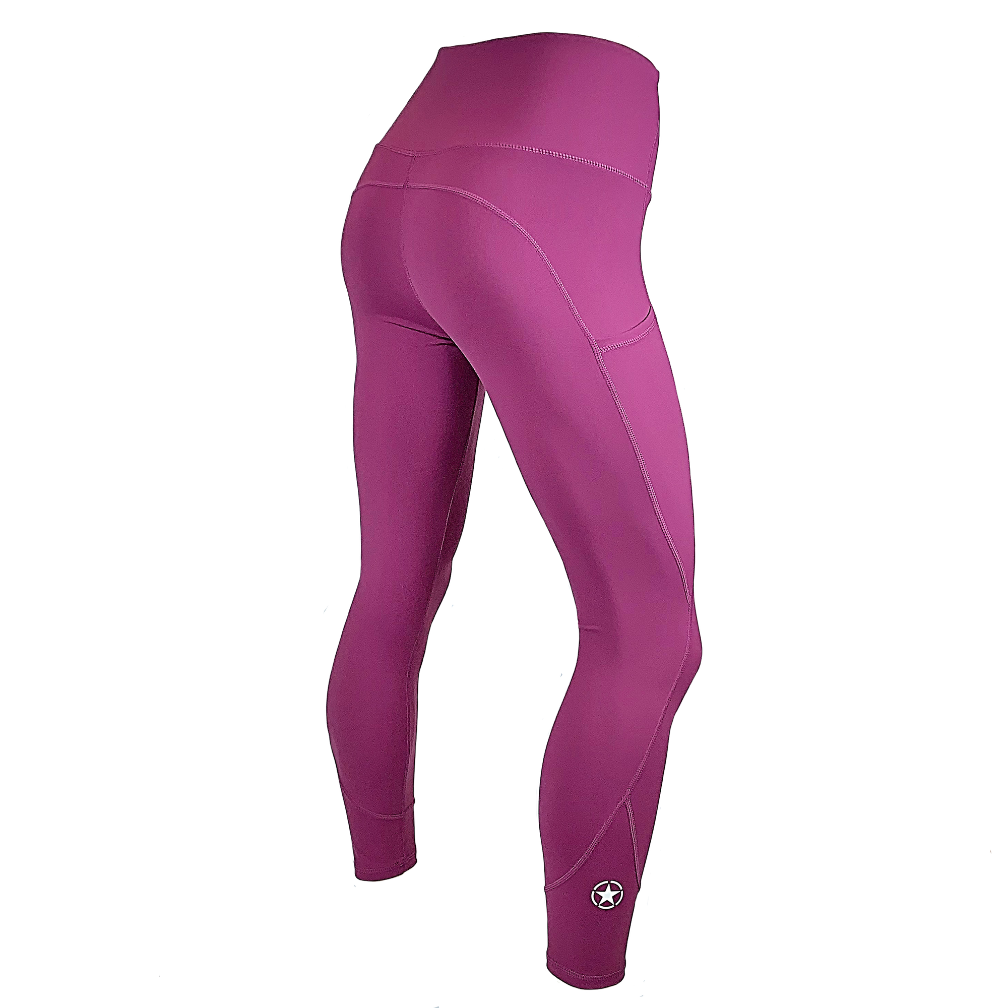 "24"" High Waist Leggings - Merlot"