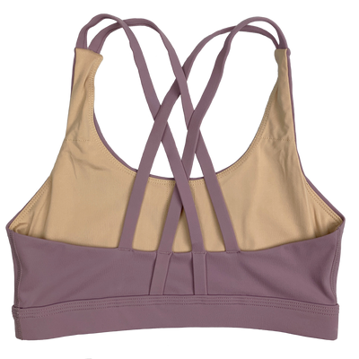 Sports Bra -4 Strap Low Cut - Mauve - Savage Barbell