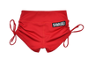 Drawstring Booty Shorts - Red - Savage Barbell