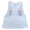 Racer Crop Tank - Red, White, & Blue - Savage Barbell