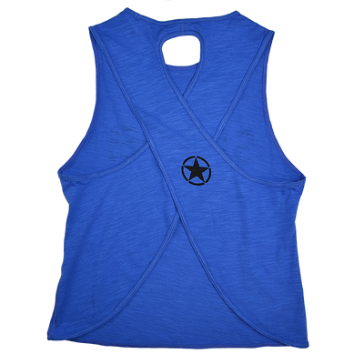 CrossBack Tank Top - Royal Blue - Savage Barbell