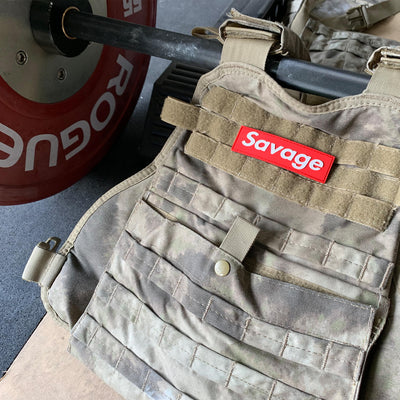 Savage Patch - Banner - Red Box - Savage Barbell