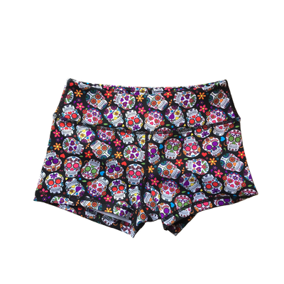 Booty Shorts - Sugar Skulls - Savage Barbell