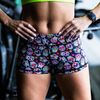 Booty Shorts - Sugar Skulls - Savage Barbell Apparel