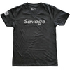 Mens T-Shirt - Black on Black Savage - Savage Barbell