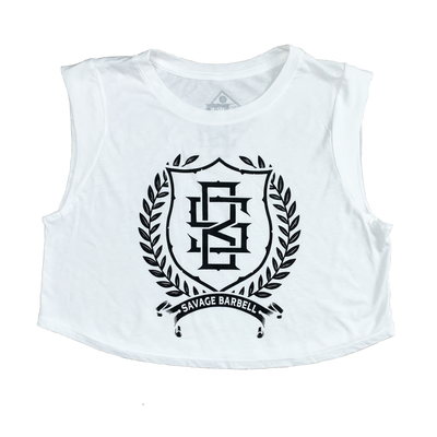 Sleeveless Crop T-Shirt - Athena - Savage Barbell