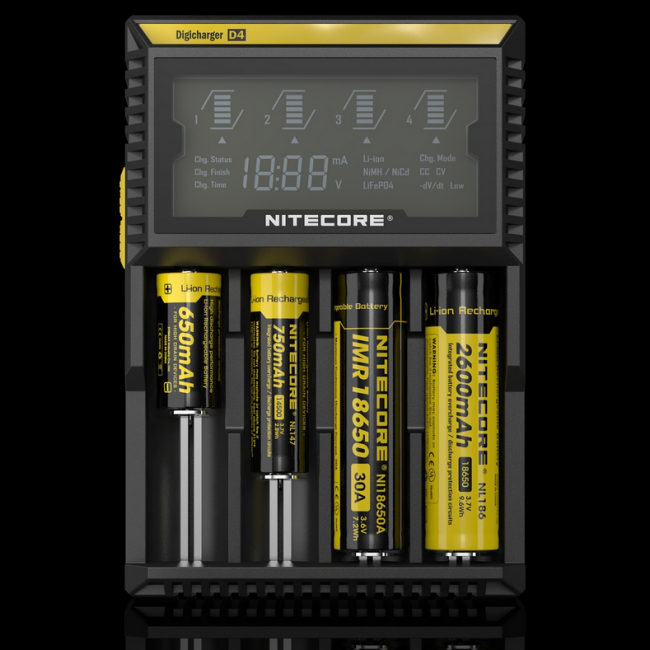 Nitecore Intellicharger D4 Li-ion / NiMH battery charger