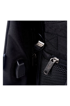 ANTI-THEFT ZIPS LAPTOP BACKPACK | BLACK - 197