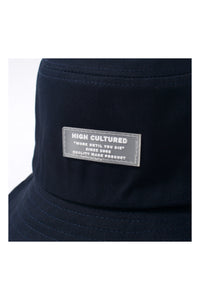 TRANSPARENT BASIC LABEL BUCKET HAT | NAVY - 133