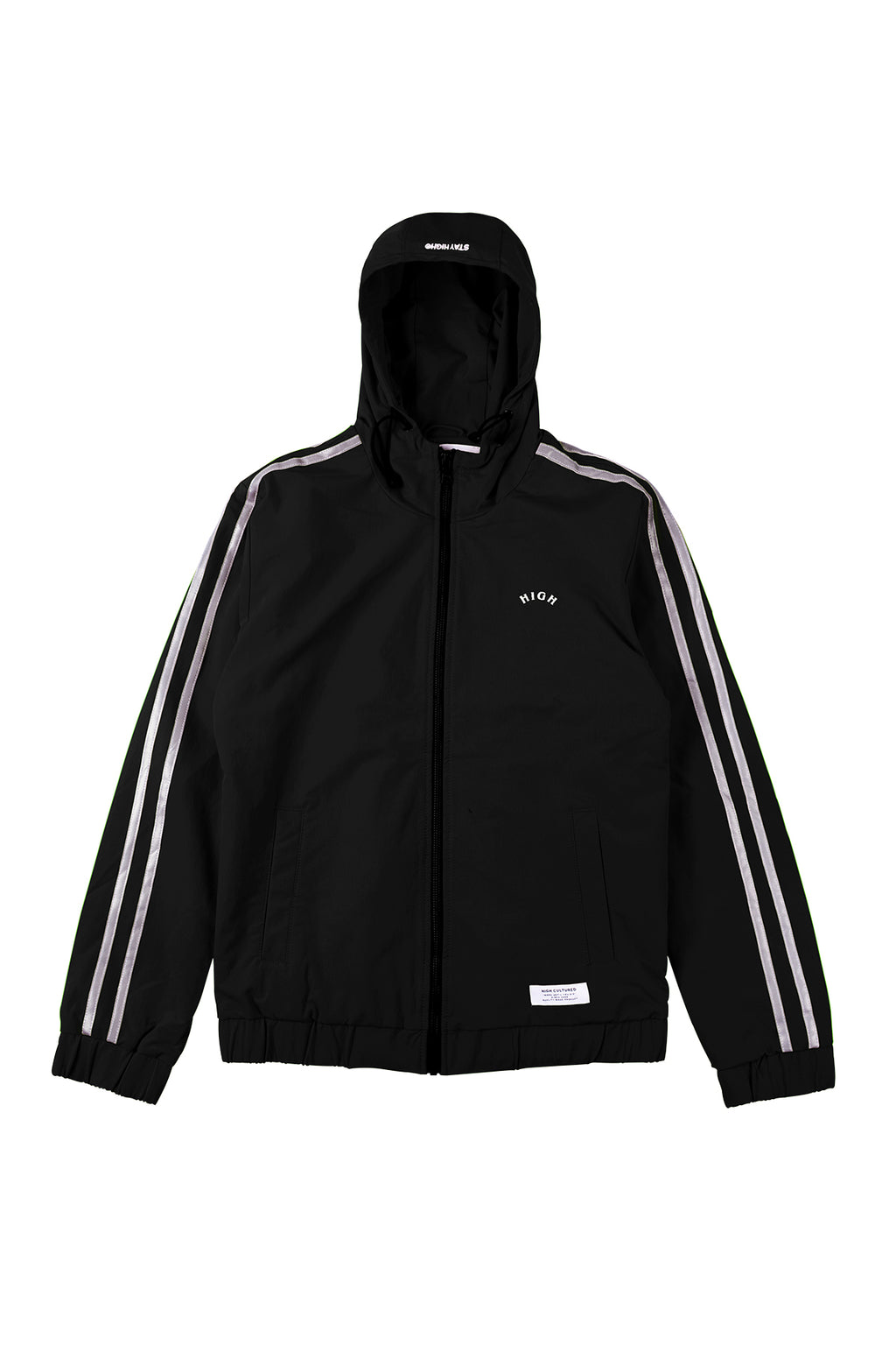 REFLECTIVE DOUBLE STRIPES HOODIE JACKET - 86