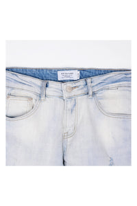 SLIM-FIT HEAVY WASHED RIPPED JEANS - 80