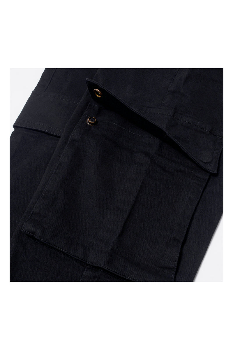 REGULAR-FIT CARGO LONG PANT | BLACK - 133