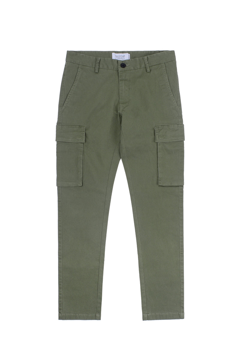 REGULAR-FIT CARGO LONG PANT | GREEN - 133