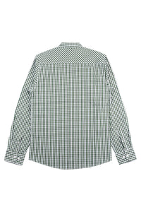 COLLARLESS SMALL CHECKERED SHIRT - 262