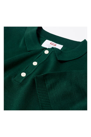 KNIT COLLAR TEE | GREEN - 132