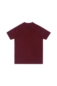 KNIT COLLAR TEE | MAROON - 132
