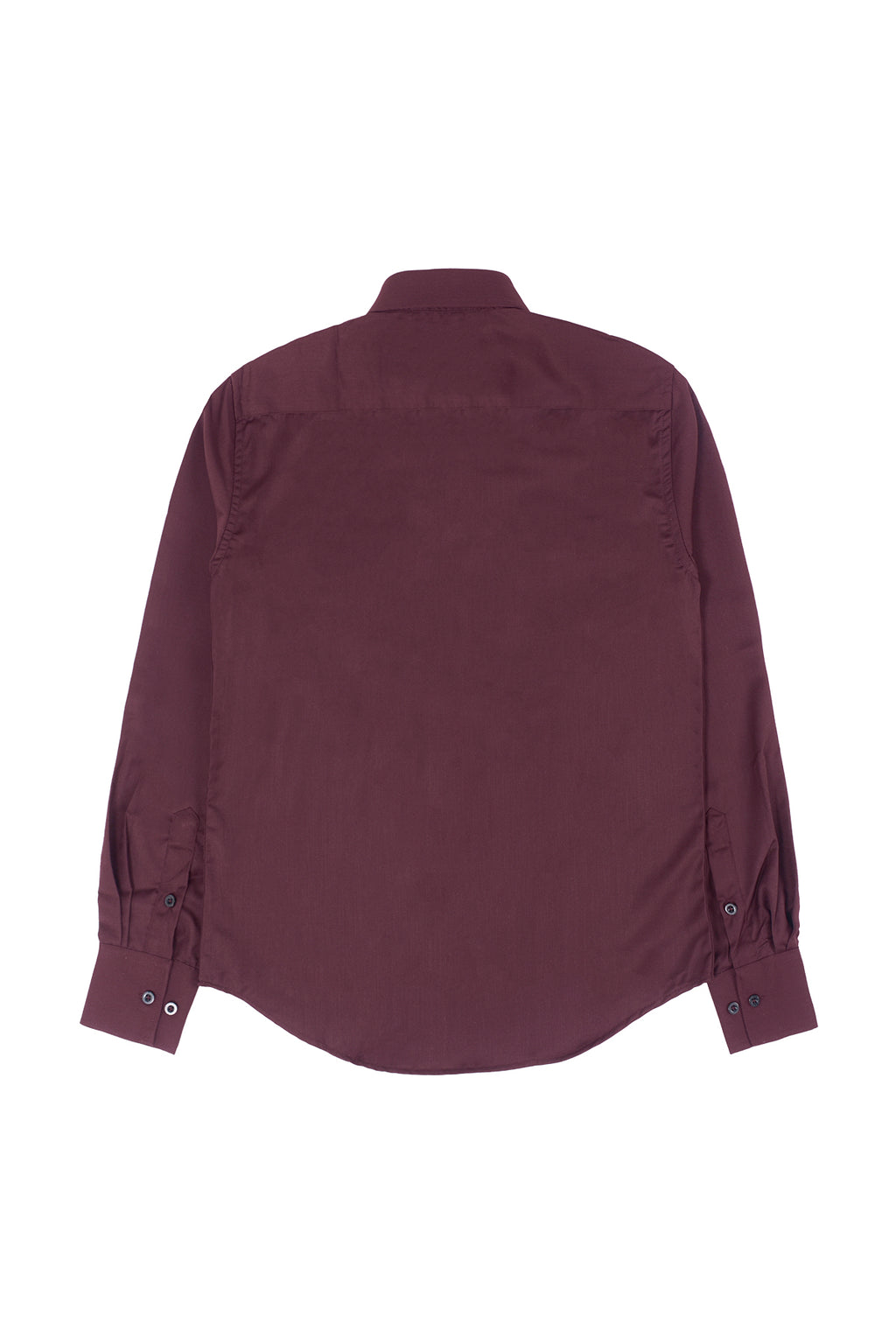 SLIM-FIT EXECUTIVE HIDDEN BUTTON SHIRT | MAROON - 66