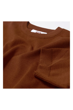 PLAIN KNIT TEE | BROWN - 642