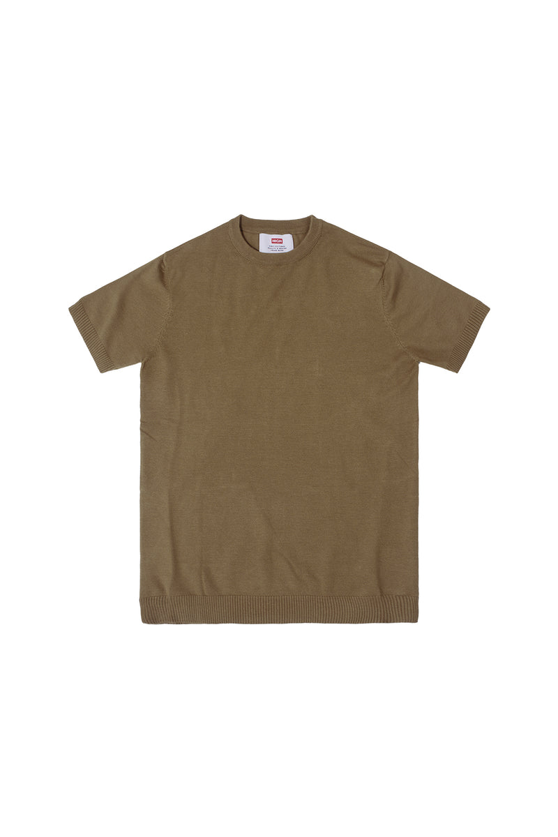 PLAIN KNIT TEE | CAMEL - 642
