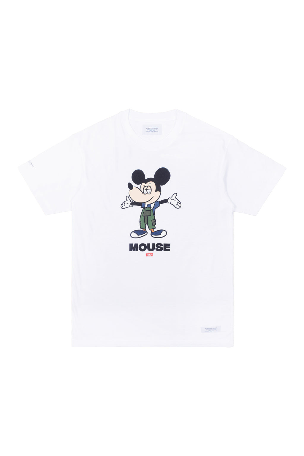 LAZY CLUB MOUSE TEE | WHITE - 782