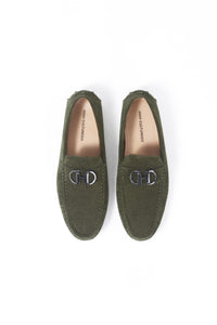 SUEDE LOAFER SHOES | GREEN - 368