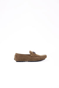 SUEDE LOAFER SHOES | KHAKI - 368
