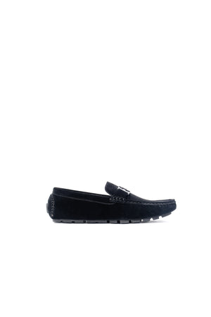 SUEDE LOAFER SHOES | BLACK - 369