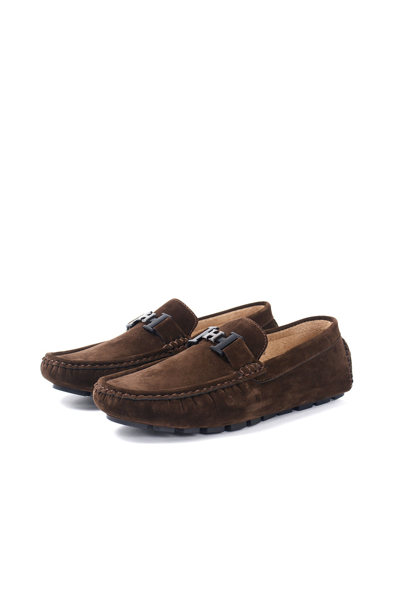 SUEDE LOAFER SHOES | DARK BROWN - 369