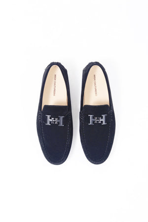 SUEDE LOAFER SHOES | NAVY - 369