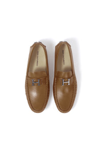 LEATHER LOAFER SHOES | CAMEL - 372