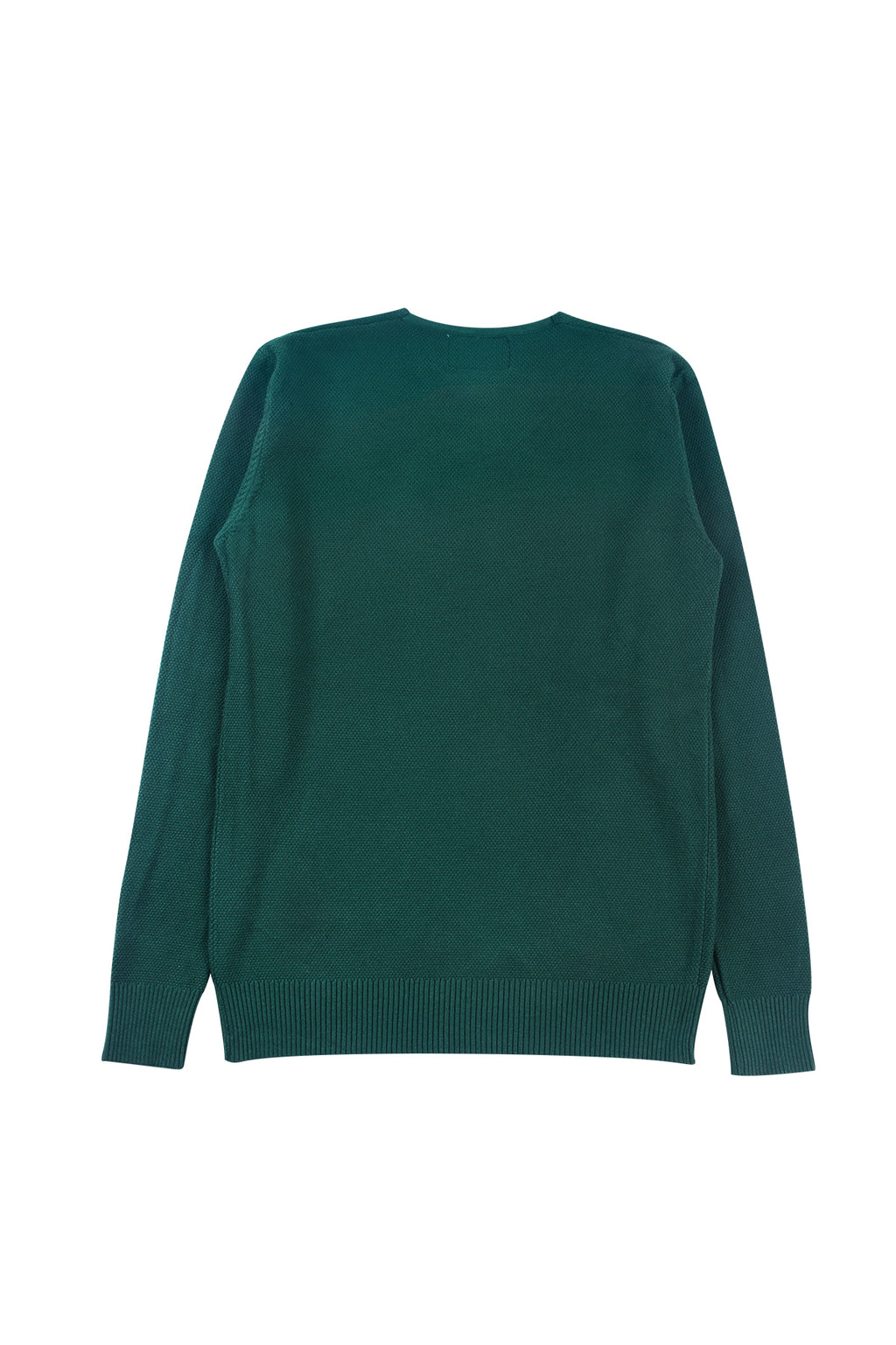 THREE-BUTTON WAFFLE KNIT SWEATER | GREEN - 185