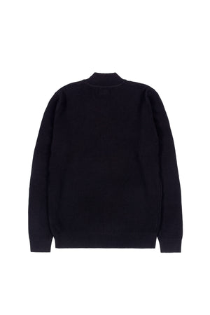 CLASSIC FUNNEL NECK KNIT SWEATER | BLACK - 199