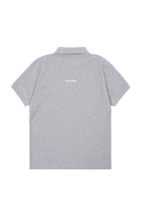 'HIGH' LOGO EMBROIDERED COLLAR TEE | GREY - 130