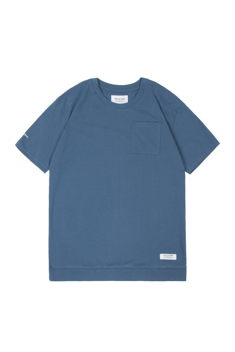 SIGNATURE RIB BOTTOM POCKET TEE - 734