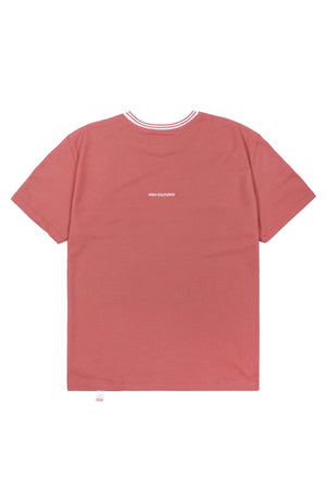 CLASSIC 'H' TWIN TIPPED TEE | PEACH - 747