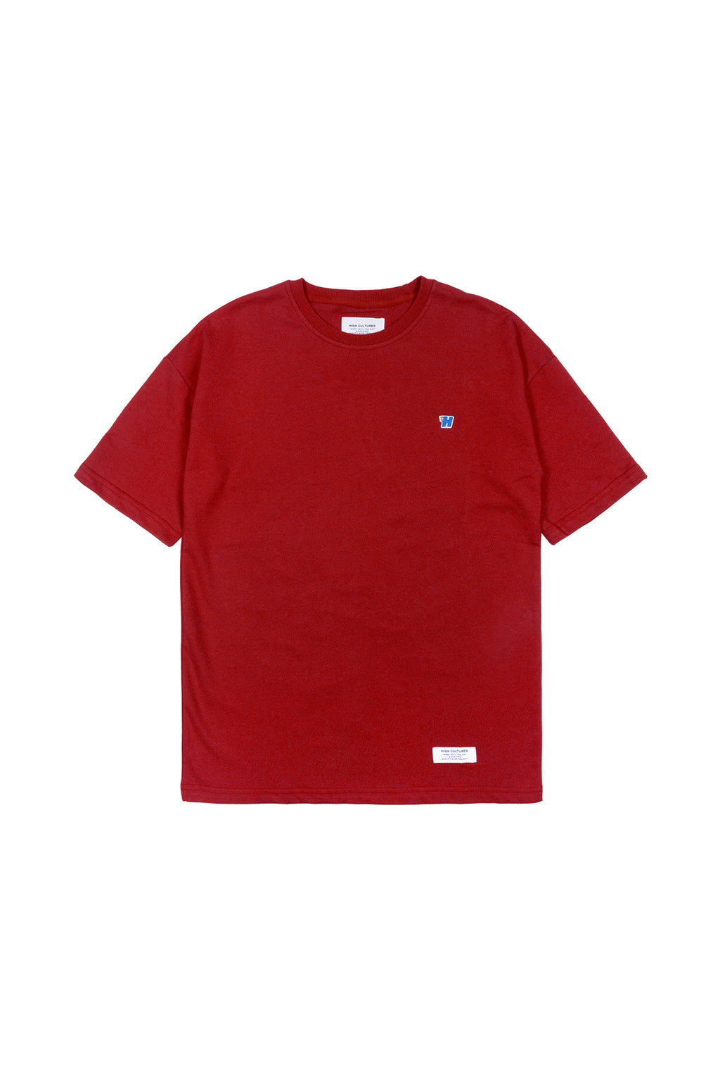 'H' WING OVERSIZED TEE | RED - 758