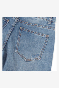 HEAVY WASHED STRAIGHT SHORT JEANS - 35
